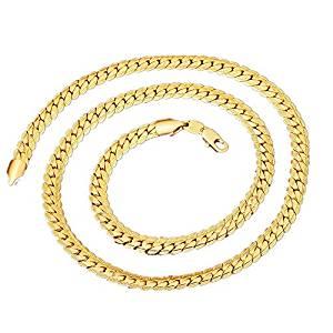 Todo tipo de cadenas planas fabricadas con oro