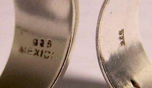 Marcas de plata o marcas en los anillos y joyería